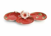 Franz Collection Hibiscus Red Dish