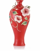 Franz Collection Hibiscus Vase