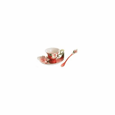 Franz Collection Island Beauty Hibiscus Cup Saucer and Spoon Set