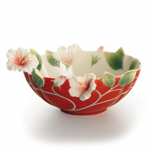 "Franz Collection ""Island Beauty"" Hibiscus Ornamental Bowl"