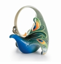"Franz Collection Kathy Ireland ""Luminescence"" Peacock Splendor Porcelain Collection"
