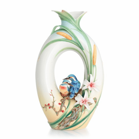 Franz Collection Kingfisher Large Vase (Limited Edition 999)