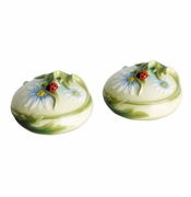 Franz Collection Ladybug Salt and Pepper Pair