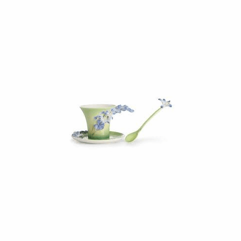 Franz Collection Lily Of The Nile Cup Saucer and Spoon Set