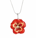 Franz Collection Pansy Purple Red Necklace