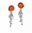 Franz Collection Peony Earrings