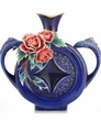 Franz Collection Peony & Fish Limited Edition Vase