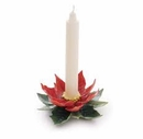 Franz Collection Poinsettia Candleholder