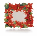 Franz Collection Poinsettia Square Plate