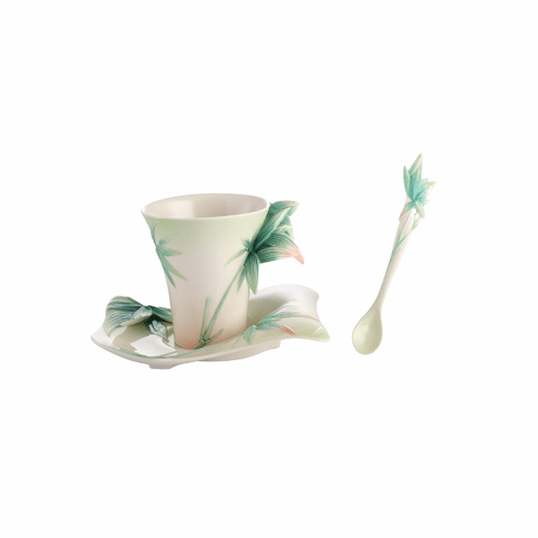 Franz Collection Porcelain Four Seasons - Bamboo Cup, Saucer & Spoon Set