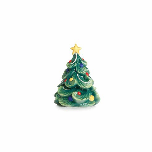 Franz Collection Porcelain Holiday Greetings Christmas Tree