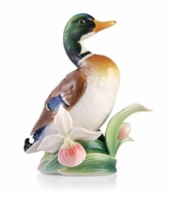 Franz Collection Porcelain Mallard Duck Figure