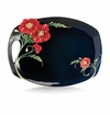 Franz Collection Porcelain The Serenity Poppy Flower Large Tray