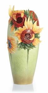 Franz Collection Porcelain Van Gogh Vase, Cup & Saucer and Jewelry Collection