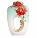 Franz Collection Red Camellia Vase