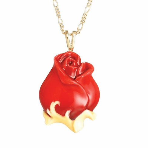 Franz Collection Red Rose Necklace