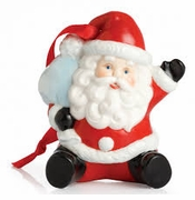 Franz Collection Santa Ornament