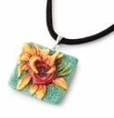 Franz Collection Van Gogh Sunflowers Necklace