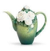 Franz Collection Van Gogh White Roses Teapot