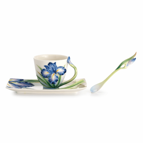 Franz Porcelain Collection Eloquent Iris Flower Spoon