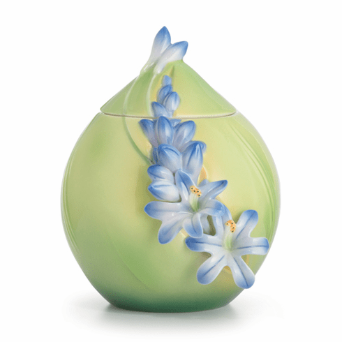 Franz Porcelain Collection Lily Of The Nile Flower Sugar Jar