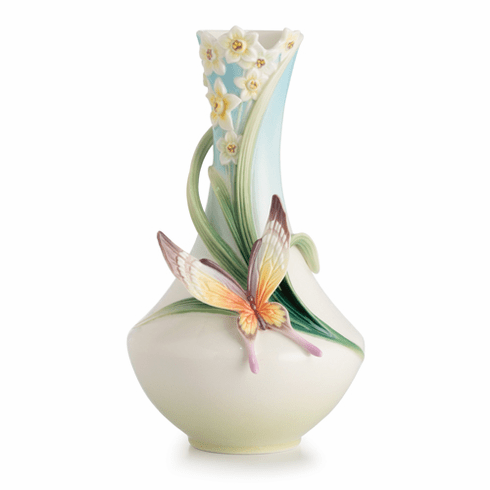 Franz Porcelain Collection Papillion Butterfly Small Vase