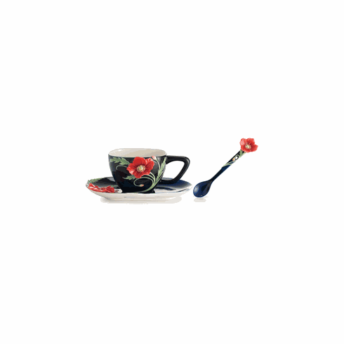 Franz Porcelain Collection The Serenity Poppy Flower Spoon