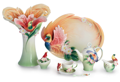 Franz Porcelain Shangri-La Bird of Paradise Collection