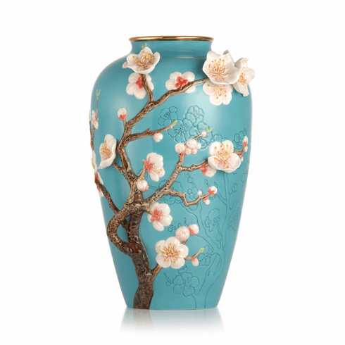 Franz Porcelain Spring Morning Almond Blossom Vase (Limited Edition 2,000)