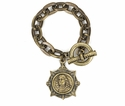 French Kande Bracelet Brass Petite Joan Medallion