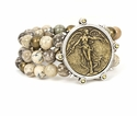 French Kande Bracelet Cafe Au Lait L'Ange Medallion