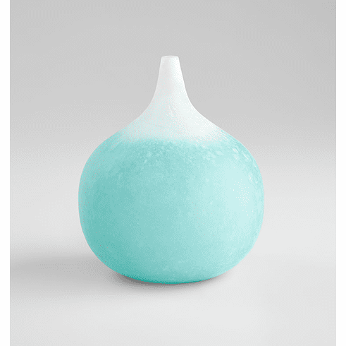 Frosted Aqua Large Droplet Vase by Cyan Design