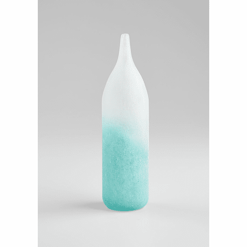Frosted Aqua Small Luna Vase by Cyan Design