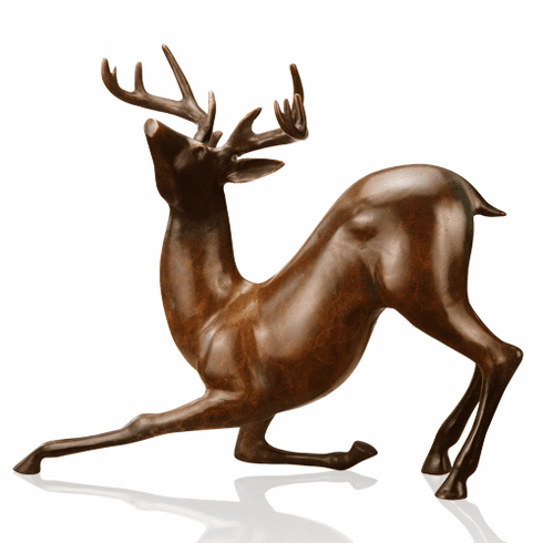 Gallery Brass Contemporary Deer Sculpture by SPI Home