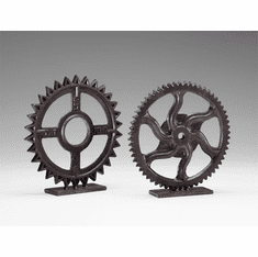Gear Bronzed Iron Sculpture #3 by Cyan Design