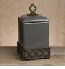 GG Collection 15 Large Ogee-G Canister Gray