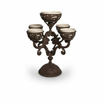 GG Collection 22.5''H Acanthus Epergne 5 Bowls