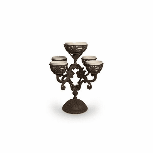 """GG Collection 22.5""""H Acanthus Epergne 5 Bowls"""