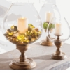 GG Collection 235H Wooden Candle Holder With Glass