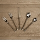 GG Collection 5 Piece Twisted Flatware Set
