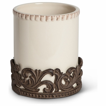 GG Collection 7''H Acanthus Utensil Holder
