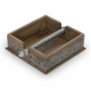 GG Collection 7 in. Wood & Metal Napkin Holder