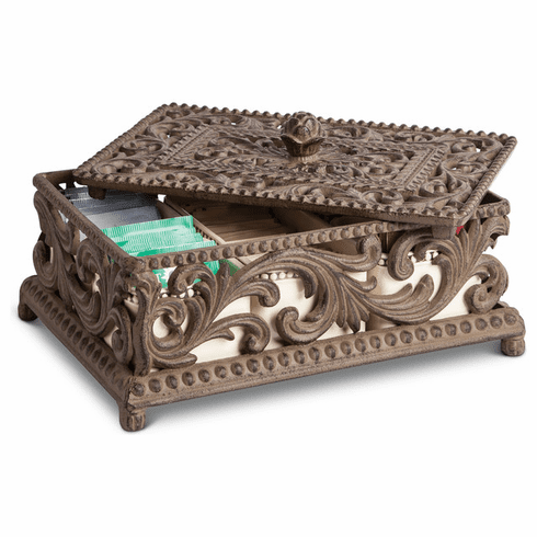 GG Collection Acanthus Tea Box 5 Ceramic Compartments