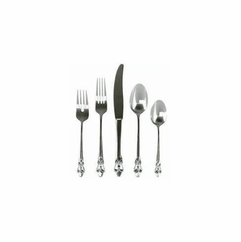 GG Collection Fleur Stainless Flatware 20 Assorted