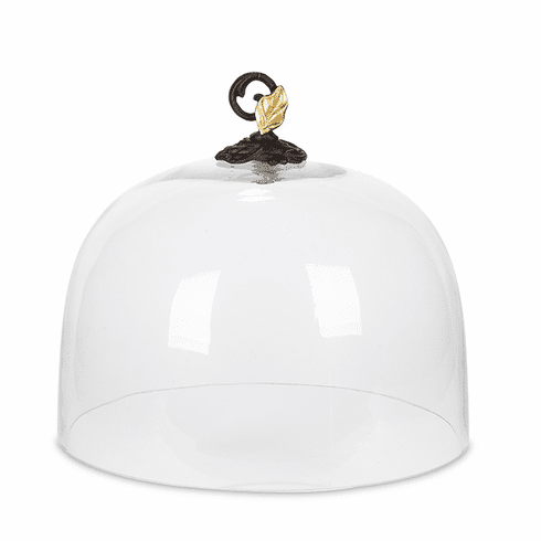 GG Collection Glass Dome with Metal Gold Leaf Finial