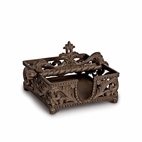 GG Collection Gracious Goods Brown Metal Napkin Holder