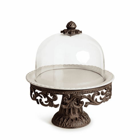 GG Collection Gracious Goods Cake Pedestal with Dome & Plate