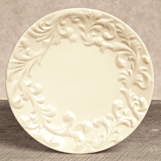 GG Collection Gracious Goods Ceramic Cream Salad Plates (4)