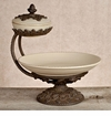 GG Collection Gracious Goods Chip and Dip Server with Lid - Cream - Baroque