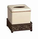 GG Collection Gracious Goods Cream Ceramic Square Tissue Box